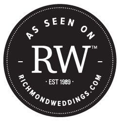 Party Perfect Real Richmond Weddings Badge Black & White