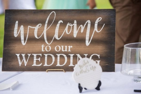 Sonia and Brian Real Richmond Weddings Decor Sign